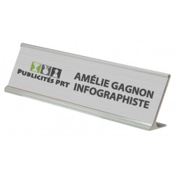 Aluminium Desk Sign Holder