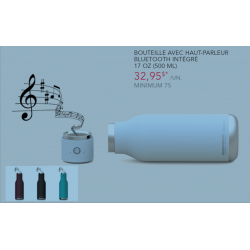 Bottle with integrated BlueTooth Speaker 17 oz