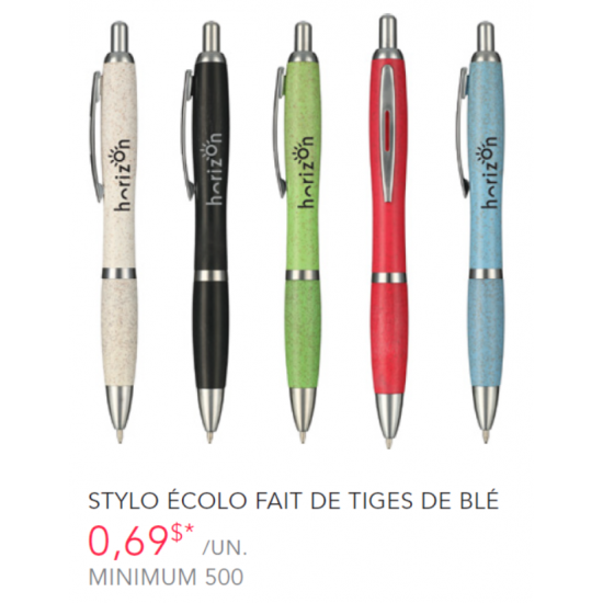 Eco Pen made from Wheat