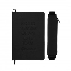 FUNCTION Office Hard Bound Notebook With Pen Pouch