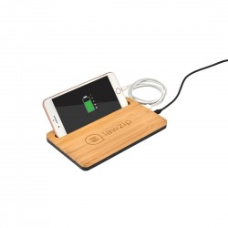 5W Bamboo Desktop Wireless Charger