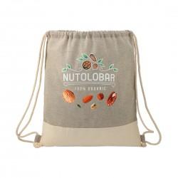 Split Recycled Cotton Drawstring Bag