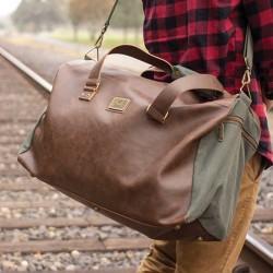 DANVILLE Travel Bag in Vegan Leather 35 L