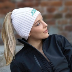 Women's Toque with Elasticized Ponytail Opening