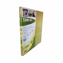 "3 Rings View Case Binder 0.5"" Letter - 100% Recyclable - Yellow / Tints Clear"
