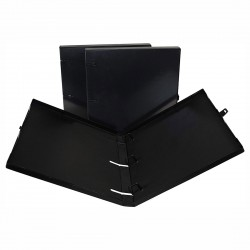 "3 Rings View Case Binder 0.5"" Letter - 100% Recyclable - Solid Black"