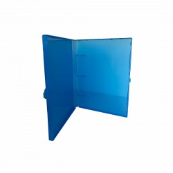"""3 Rings View Case Binder 3/4"""" Mini - 100% Recyclable - Blue"""