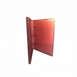 """3 Rings View Case Binder 3/4"""" Mini - 100% Recyclable - Burgundy"""