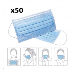 3-PLY Disposable Face Masks (50's)