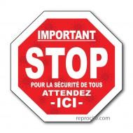 """Floor Graphic - Stop Sign 12"""""""