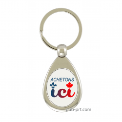 Buy Local - Oval Key Chain