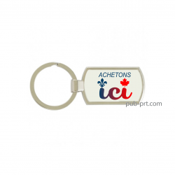 Buy Local - Rectangular Key Chain
