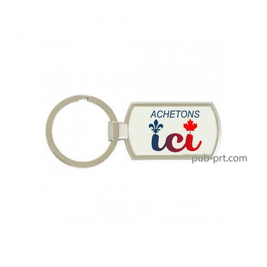 Buy Local - Rectangular Key Chain