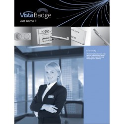 Vista BADGE - Curved
