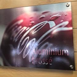 Brushed Aluminum Printing